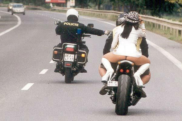 police and motobike